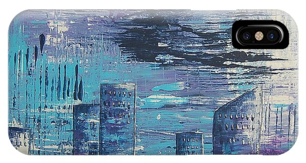 Houston Skyline 2 IPhone Case