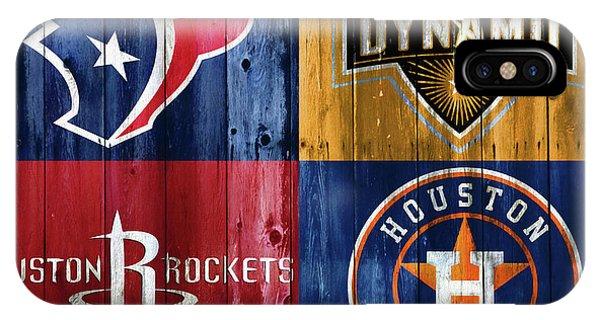 iPhone Case - Houston Sports Teams Barn Door by Dan Sproul