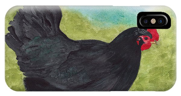How Do You Like My Little Black Dress? Iridescent Black Hen IPhone Case