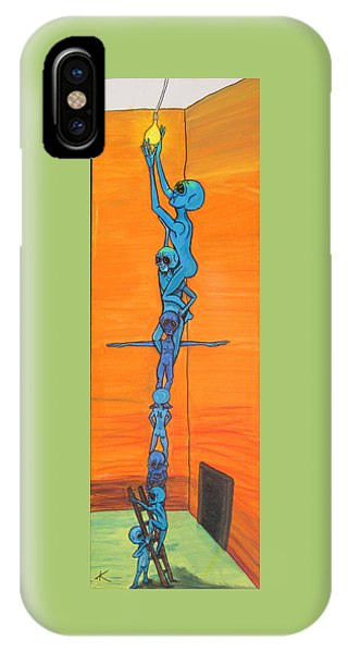 How Many Aliens Does It Take To Screw In A Light Bulb?  Seven. IPhone Case