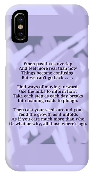 How Now Poem IPhone Case
