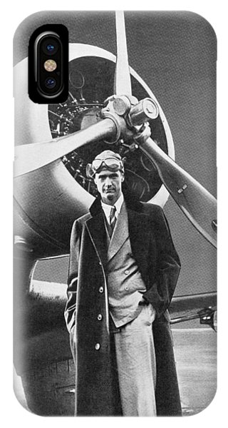 White iPhone Case - Howard Hughes, Us Aviation Pioneer by Science, Industry & Business Librarynew York Public Library
