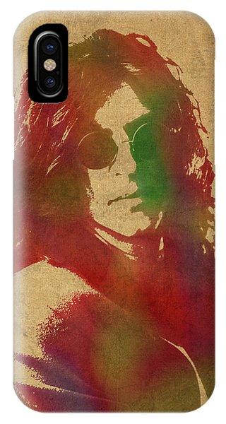 Howard Stern iPhone Case - Howard Stern Watercolor Portrait by Design Turnpike