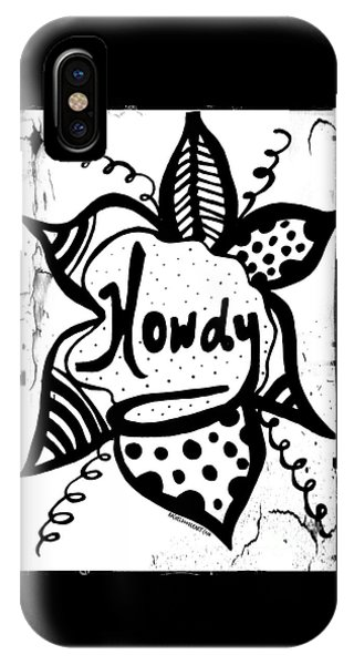 IPhone Case featuring the drawing Howdy by Rachel Maynard