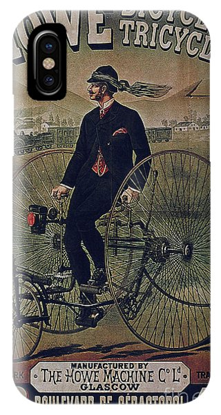 Howe Bicycles Tricycles Vintage Cycle Poster IPhone Case