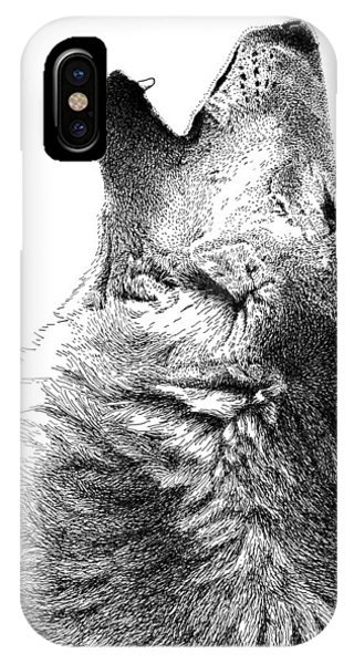 Howling Timber Wolf IPhone Case