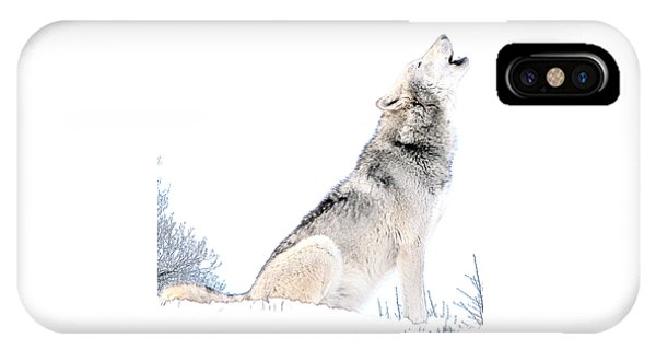 Howling Wolf 1 IPhone Case