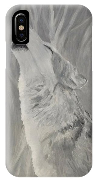 IPhone Case featuring the painting Howling Wolf by Kevin Daly