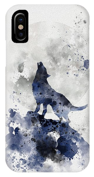 Moon iPhone Case - Howling Wolf by My Inspiration