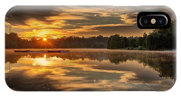 Hoyt Lake Sunrise - Square IPhone Case