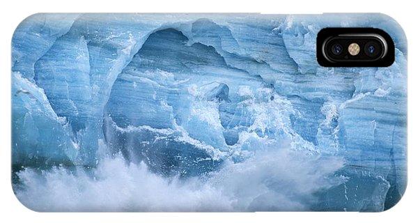 Glacier Bay iPhone Case - Hubbard Glacier Calving Chunks Of Ice by Michael Melford