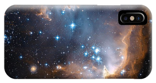 Hubble's View Of N90 Star-forming Region IPhone Case
