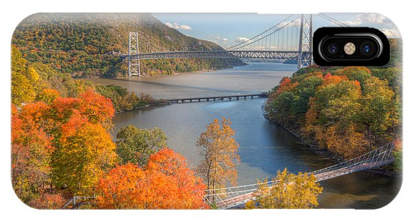Bear Creek iPhone Case - Hudson River And Bridges by Clarence Holmes
