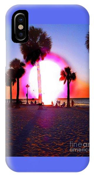 Huge Sun Pine Island Sunset  IPhone Case