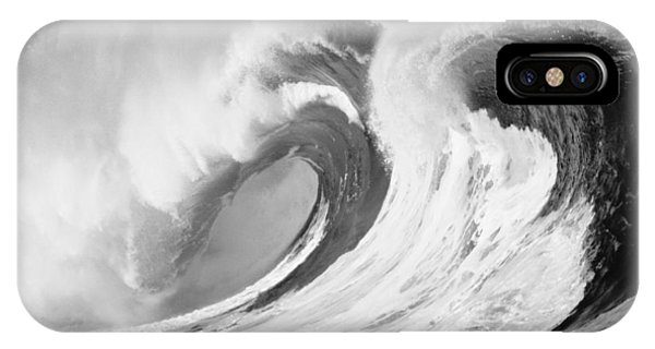 Huge Curling Wave - Bw IPhone Case