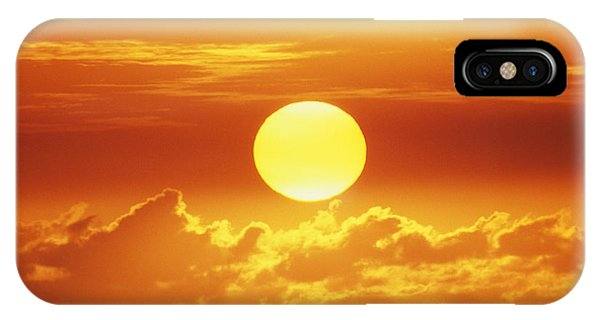 Fire Ball iPhone Case - Huge Orange Sun by Bob Abraham - Printscapes