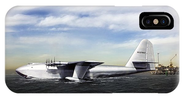 Spruce iPhone Case - Hughes H-4 Hercules by Peter Chilelli