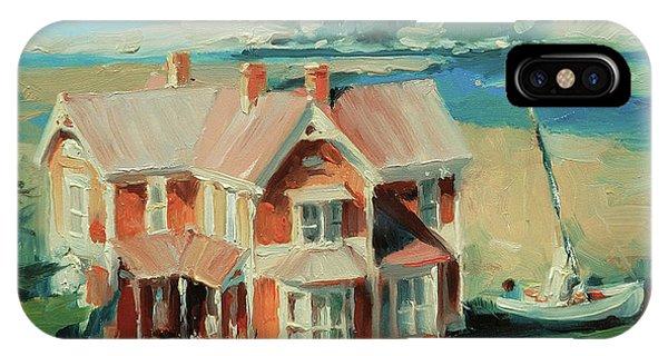 Coastal Landscape iPhone Case - Hughes House by Steve Henderson