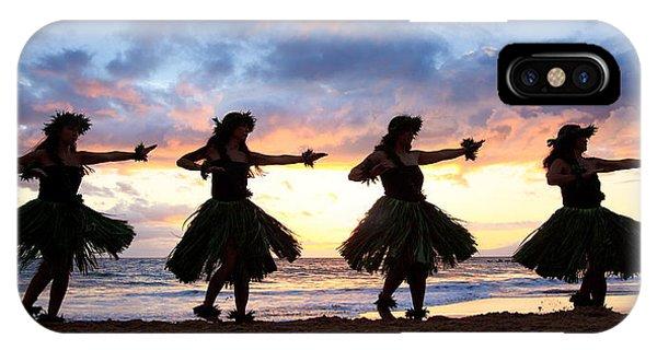 Hula At Sunset IPhone Case