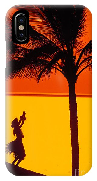 Hawaii iPhone Case - Hula At Sunset by Ron Dahlquist - Printscapes
