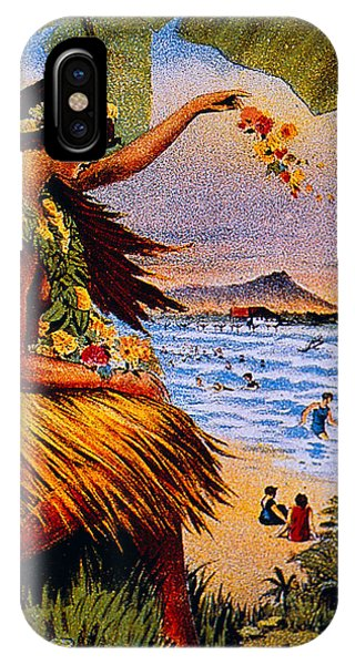Hawaii iPhone Case - Hula Flower Girl 1915 by Hawaiian Legacy Archive - Printscapes