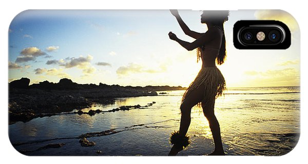 Oahu Hawaii iPhone Case - Hula Silhouette by Vince Cavataio - Printscapes