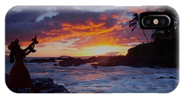 Hula Sunset IPhone Case