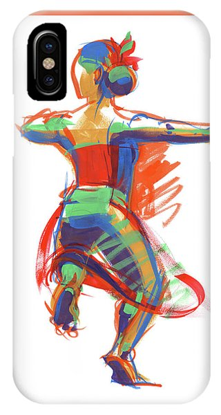 IPhone Case featuring the painting Hula Wahine Ikaika by Judith Kunzle