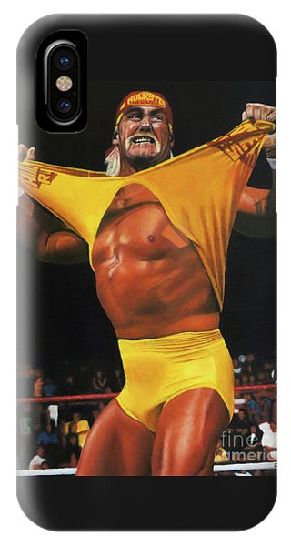 Hulk Hogan Oil On Canvas IPhone Case