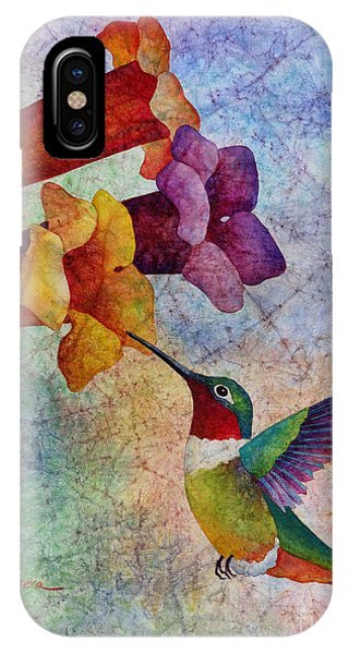 Bird Watercolor iPhone Case - Hummer Time by Hailey E Herrera