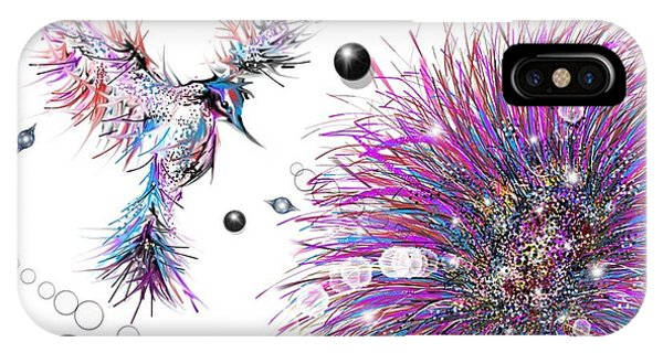 Humming Bird And Flower IPhone Case