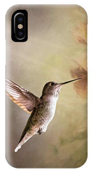 Humming Bird In Light IPhone Case