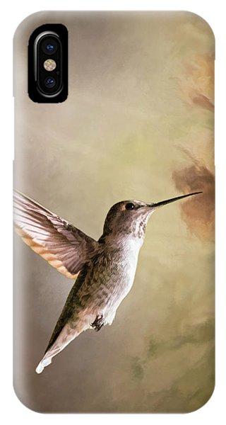 Humming Bird In Light IPhone Case