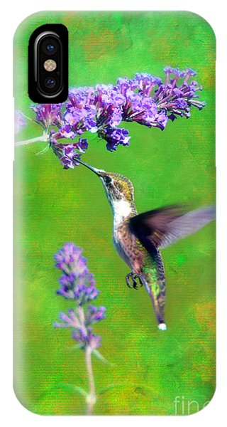 Humming Bird Visit IPhone Case