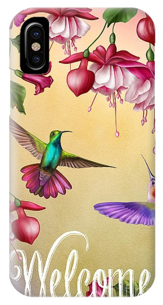 Humming Bird iPhone Case - Humming Bird Welcome-jp2778 by Jean Plout
