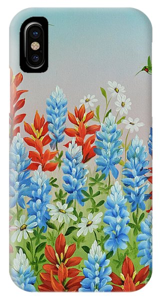 Humming Birds Feeding On Wildflowers IPhone Case
