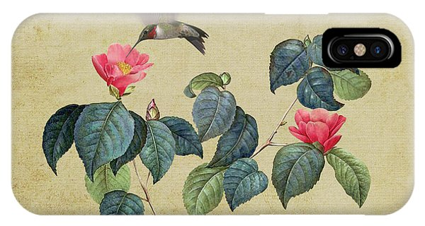 Hummingbird And Japanese Camillea IPhone Case