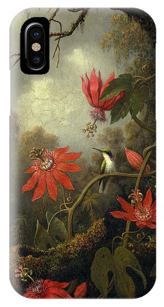 Hummingbird And Passionflowers IPhone Case