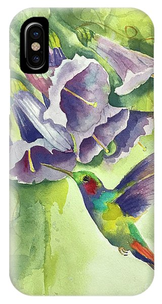 Hummingbird And Trumpets IPhone Case