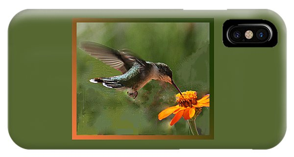 Hummingbird Art IPhone Case