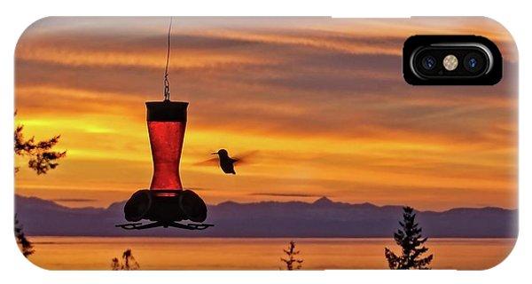 iPhone Case - Hummingbird At Sunset. by Bill Linn
