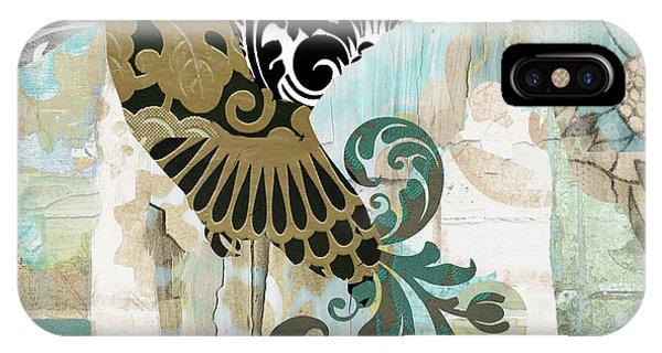 Hummingbird iPhone Case - Hummingbird Batik by Mindy Sommers