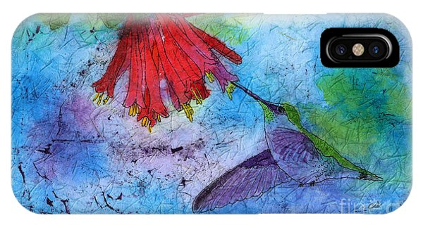 Hummingbird Batik Watercolor IPhone Case