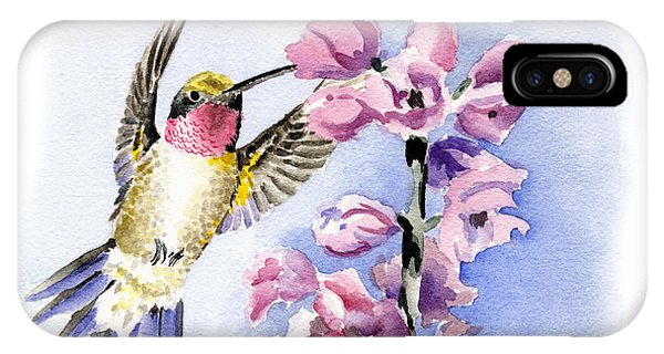 Humming Bird iPhone Case - Hummingbird by David Rogers