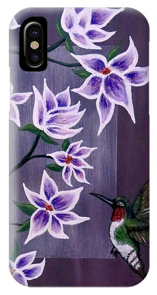 Hummingbird Delight IPhone Case