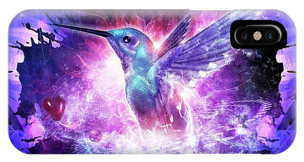 Hummingbird Love IPhone Case