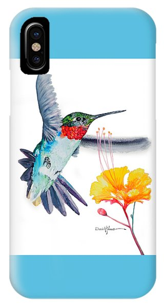 Da169 Hummingbird Flittering Daniel Adams IPhone Case