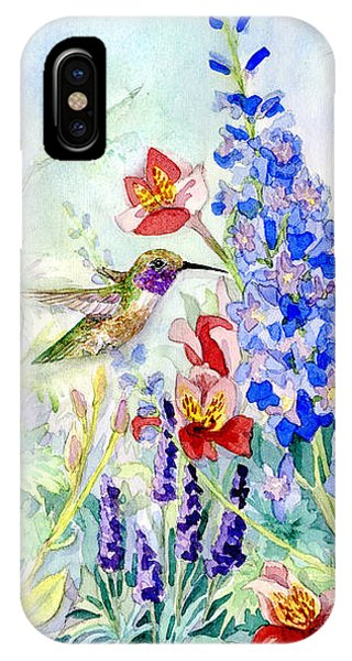 Hummingbird Garden In Spring IPhone Case