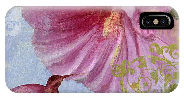 Hibiscus Flower iPhone Case - Hummingbird Hibiscus I by Mindy Sommers