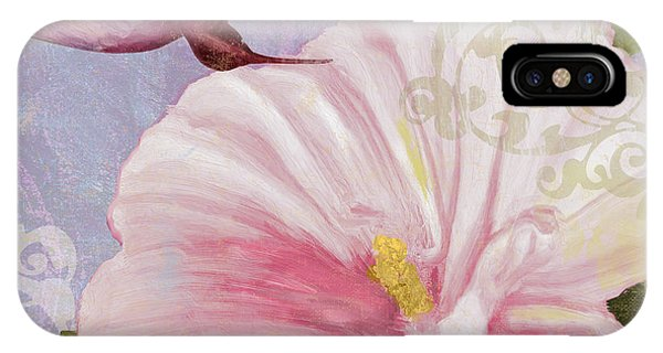 Hibiscus Flower iPhone Case - Hummingbird Hibiscus II by Mindy Sommers